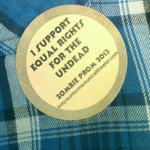 I Support Equal Rights For The Undead - sticker on Fran