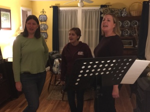 "Melody Reese, Sheree Owens and Jessica Plummer rehearse ""I Gave It Away"", part of a special video presentation for the 2005 concert."